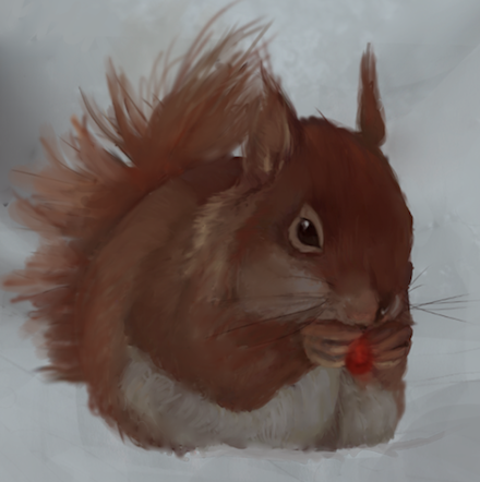 Red squirrel added to picture