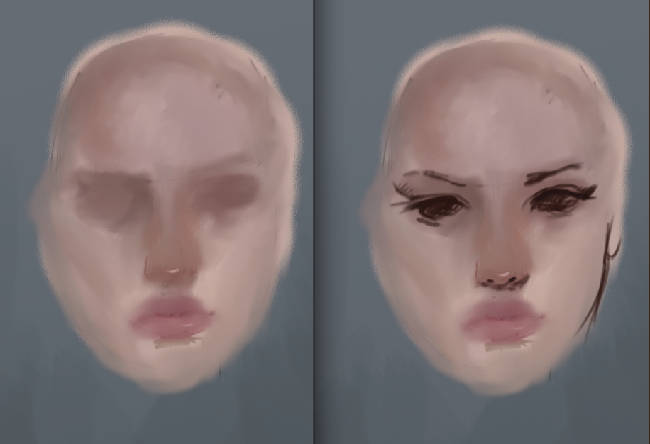 WIPS of painting process.